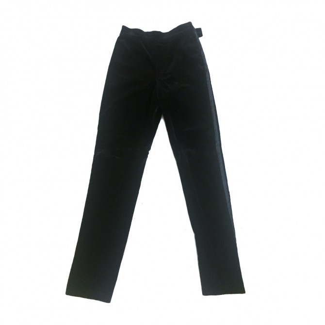 Gianni Vercase black velour trousers