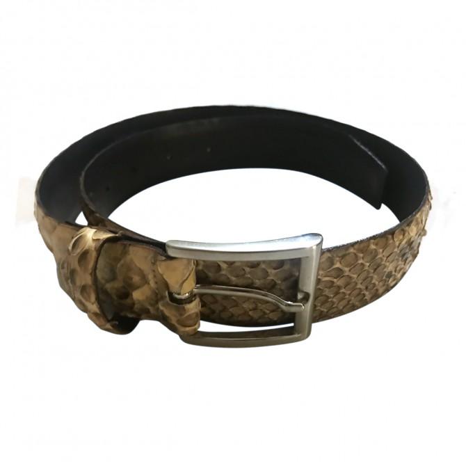 Snakeskin ladies belt