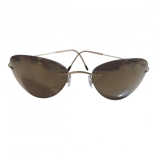 Sillouette sunglasses retro style frame with gold mirror glasses