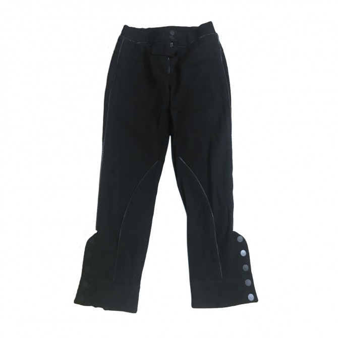 ALEXANDER MC QUEEN BLACK TROUSERS WITH KNITTED FABRIC DETAILS
