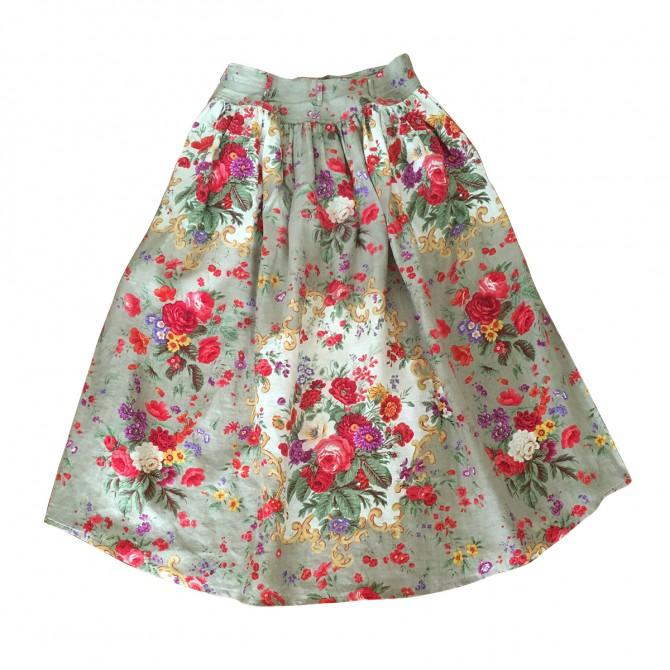 WALTER MUNCHEN floral full skirt