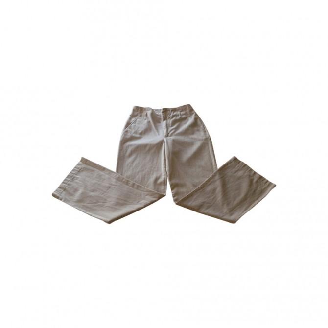 MAX MARA weekend beige cotton trousers
