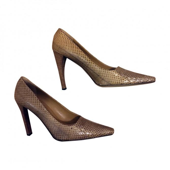 Gucci snakeskin heels