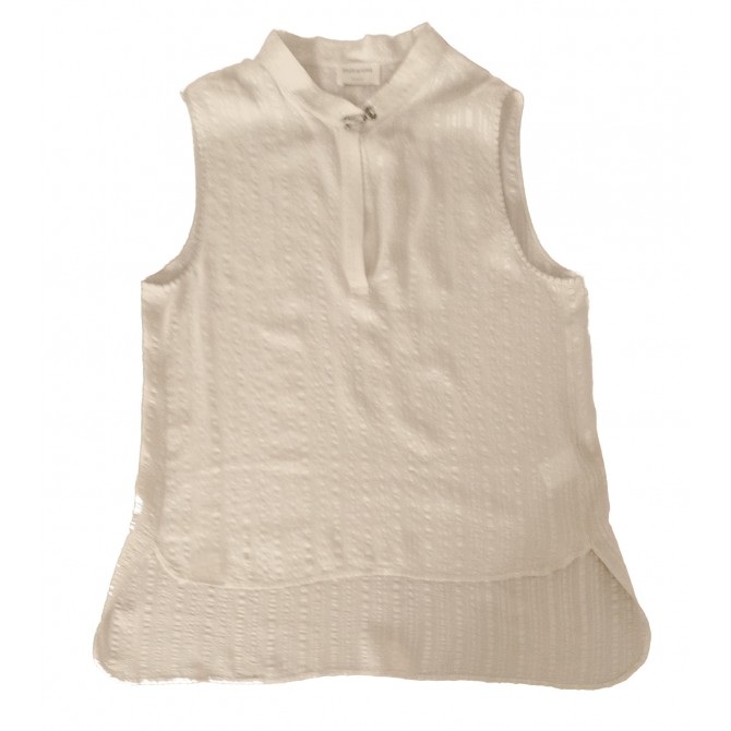 """ZEUS & ΔΙΟΝΕ """"ISMENE """" hand made beige silk top"""