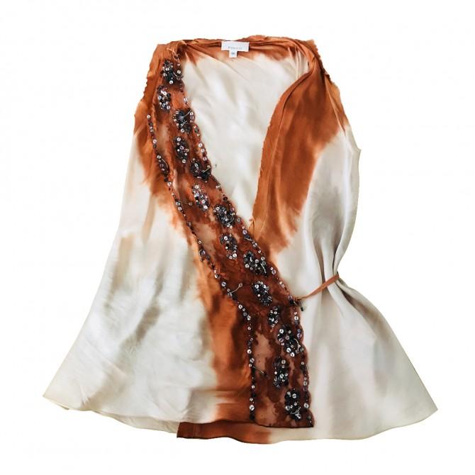 PINKO silk top wrap fastened