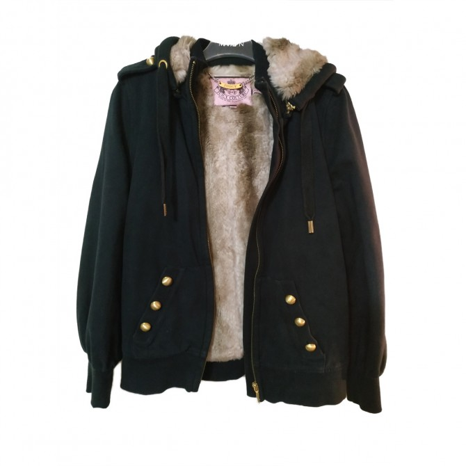 Juicy couture jacket hoodie with faux fur lining