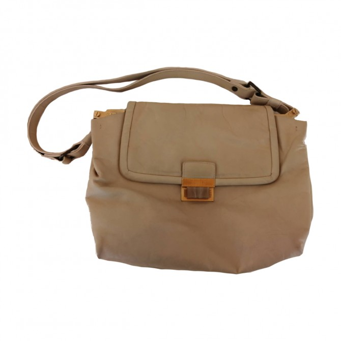 LANVIN BEIGE LEATHER BAG