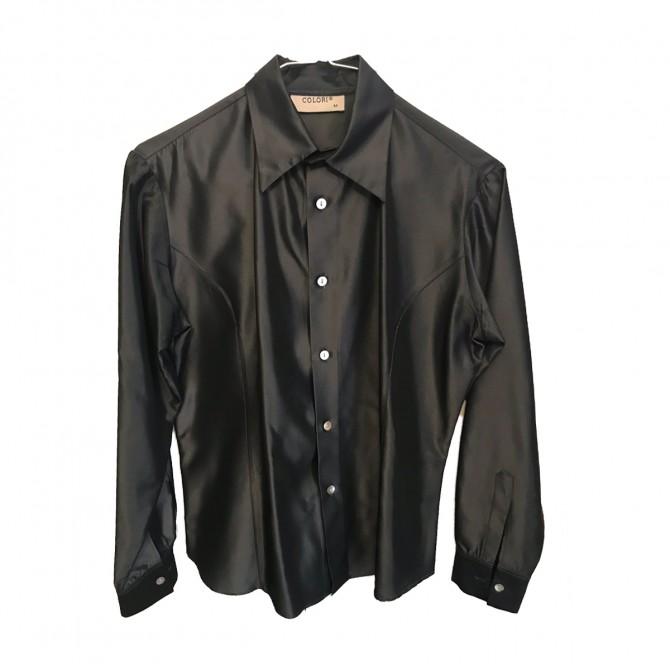 Colori Black Silk Shirt