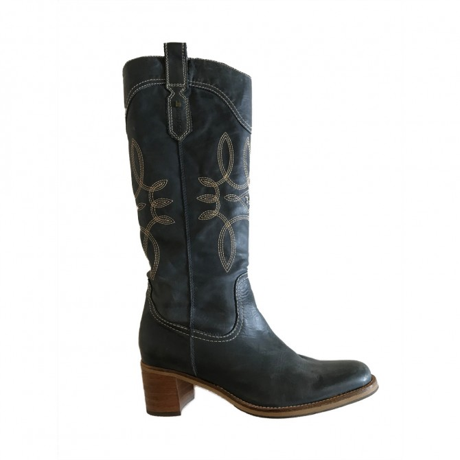 Tommy Hilfiger Cowboy Boots in royal blue IT39 or US9