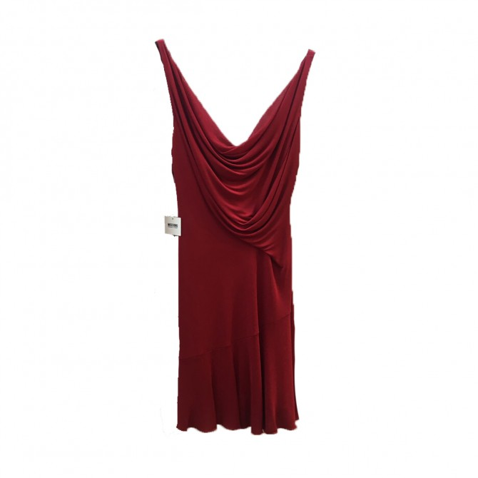MOSCHINO red dress new with tags size 46