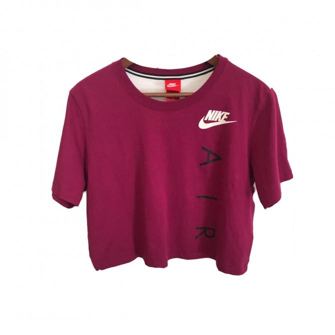 Nike fuschia White  top size M