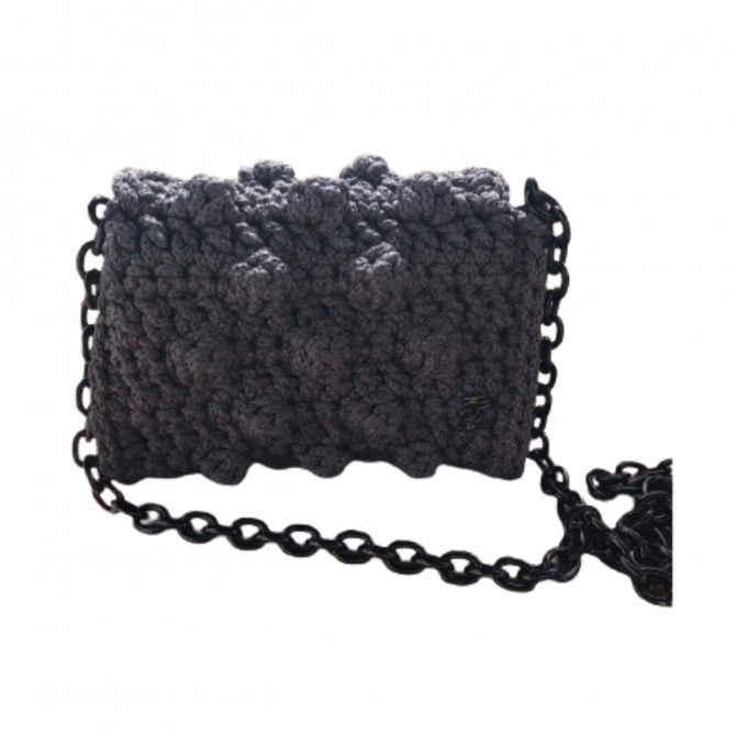 One and only Cross body/clutch knitted grey bag
