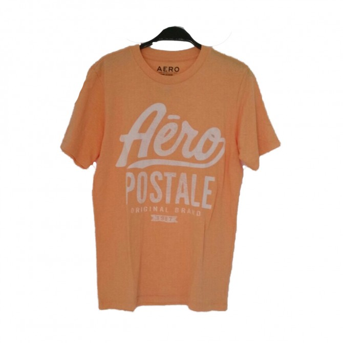 Aeropostale mens orange T-shirt size S