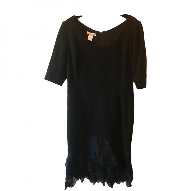 Oscar de la Renta black evening dress size UK 14
