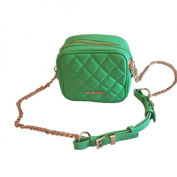 Love Moschino green fluorescent mini bag