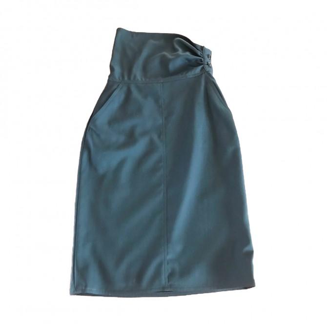 Sport Max black skirt asymmetrical waist band
