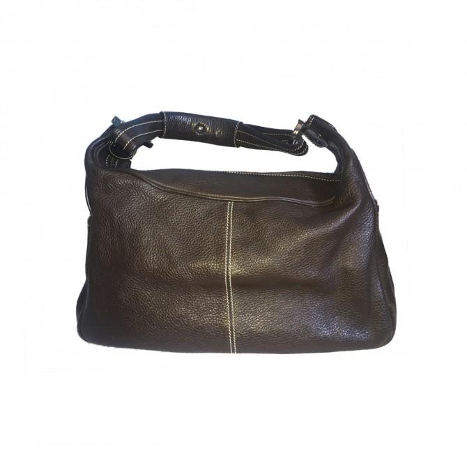 TODS brown leather hobo bag