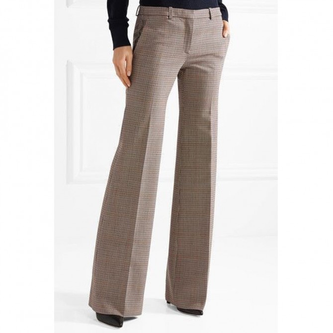 Theory - Demitria checked wool-blend straight-leg pants size IT42