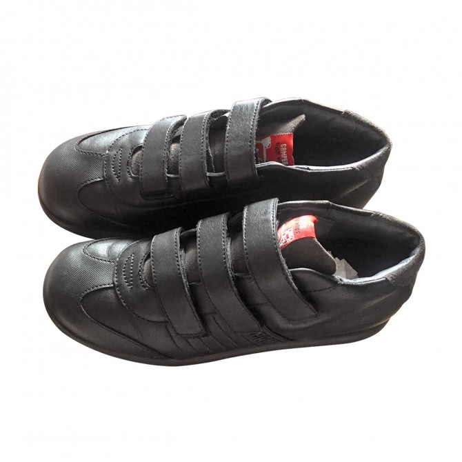 CAMPER boy's sneakers in black leather