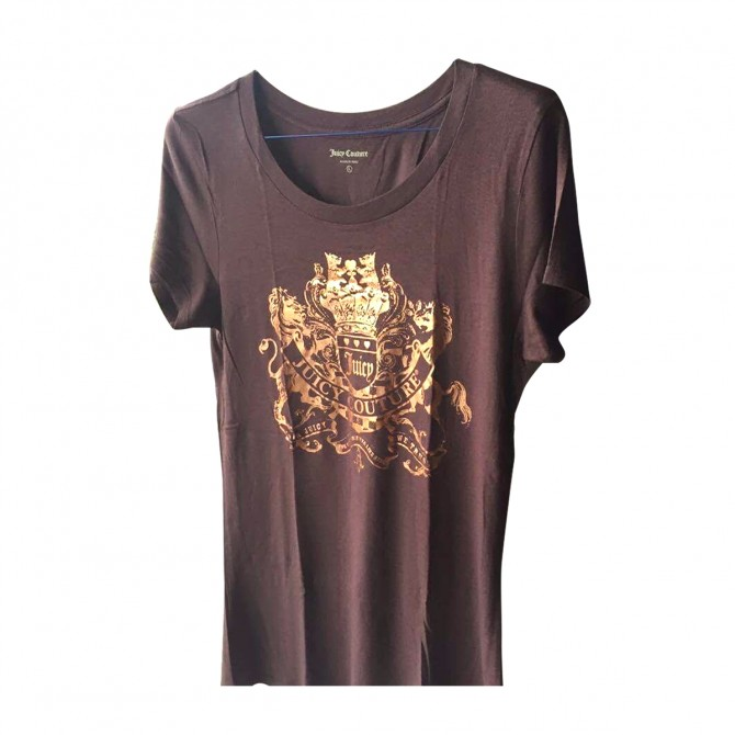 Juicy Couture t-shirt in brown with gold stamp
