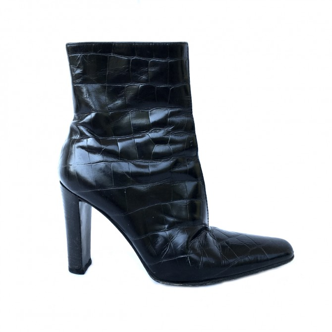 Vicini Black Leather Boots size IT36