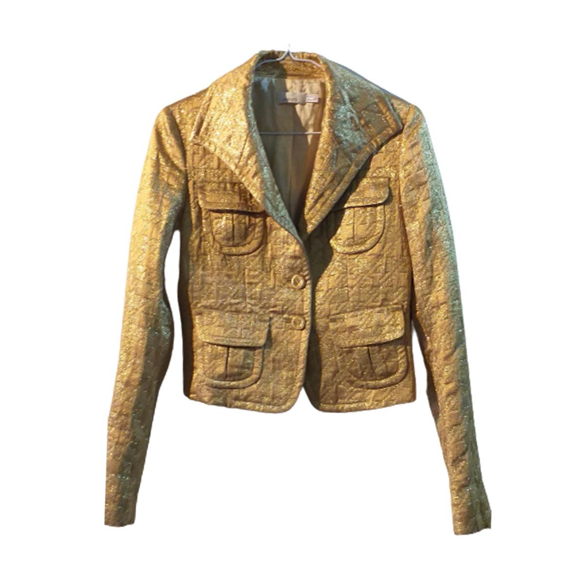 Pinko gold blazer size small