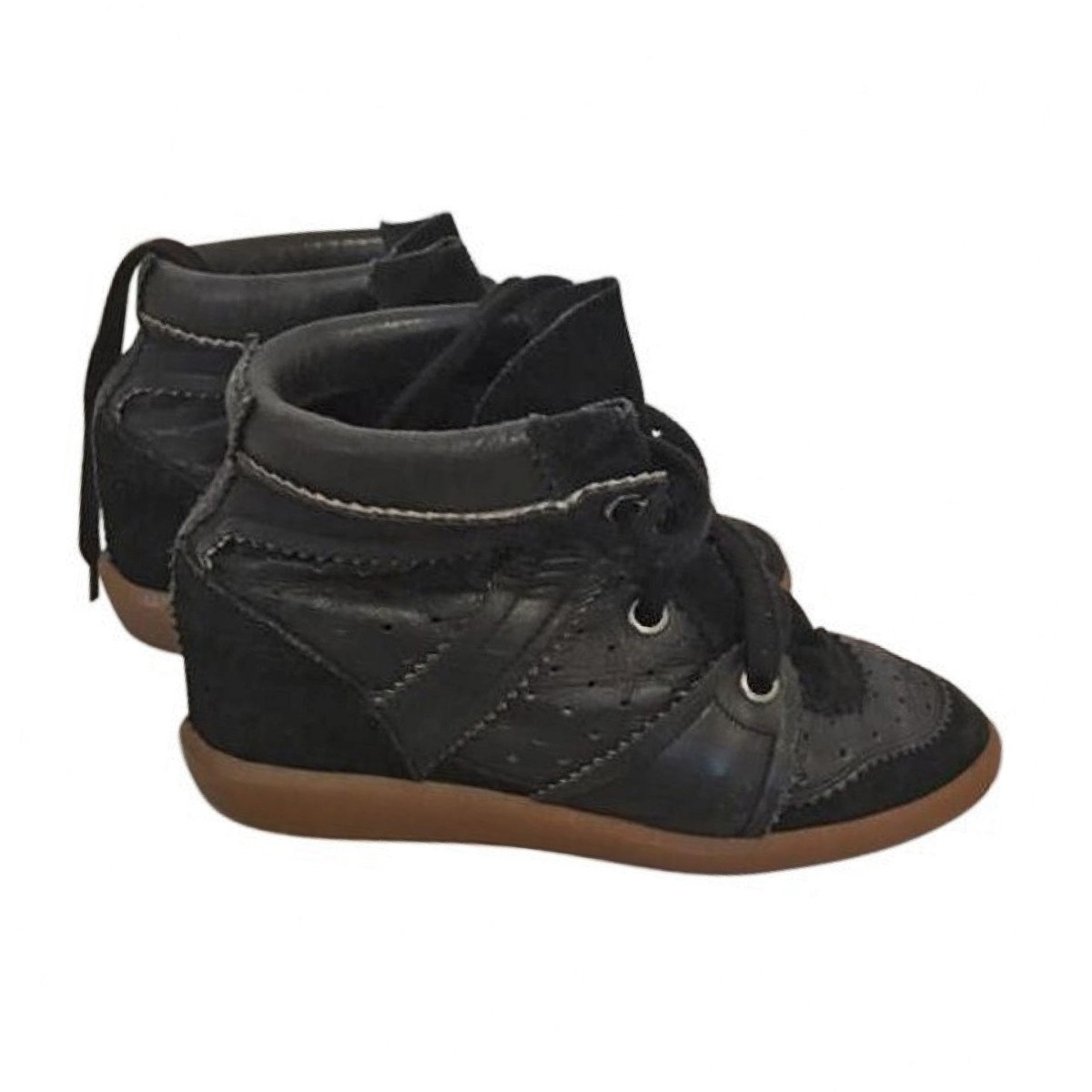 aaa88d44e2 Isabel Marant Black Bobby sneakers - Women | My good closet