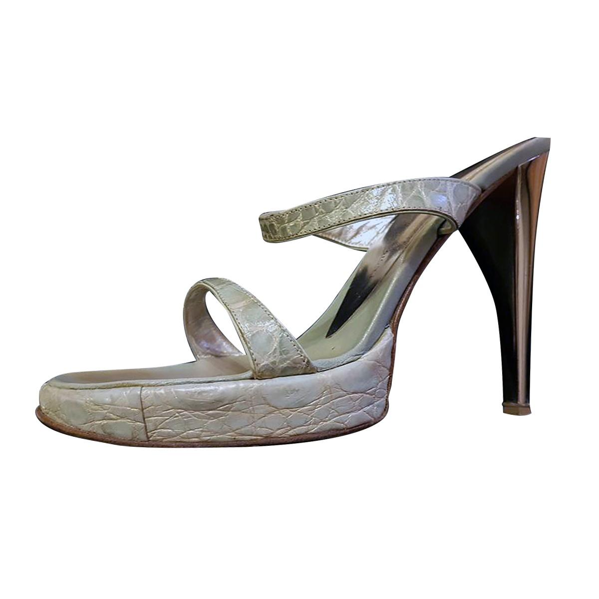 86395ea8bb27c Giuseppe Zanotti Sandal Crocodile High Heel | My good closet