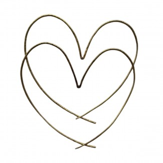 Elena Votsi 18Κ yellow gold  Handmade Large hoops in heart shape  Brand new condition