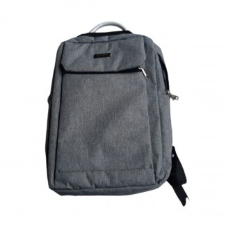 Grey unisex cloth backpack