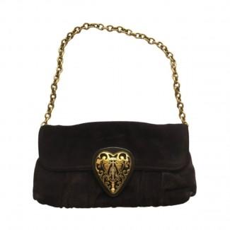 Gucci purple suede Hysteria small shoulder bag