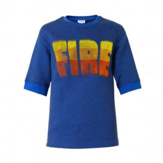 KENZO FIRE SLOGAN BLUE SWEATSHIRT sz.L-BRAND NEW