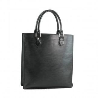 Louis Vuitton sac Plat black epi leather bag