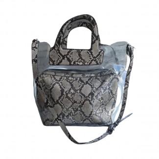 Zara transparent pvc tote bag and clutch  brand new