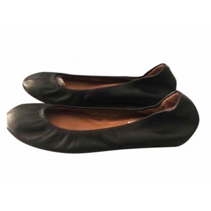 Lanvin Ballet flats  in black leather size IT 39 like brand new