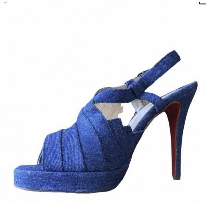 Christian Louboutin denim heeled sandals size IT39