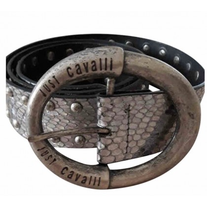 Just Cavalli silver snake print belt with trucks size 90