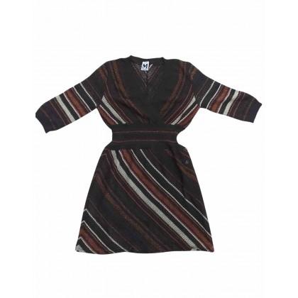Missoni mini dress in brown mutlicolor pattern size IT42