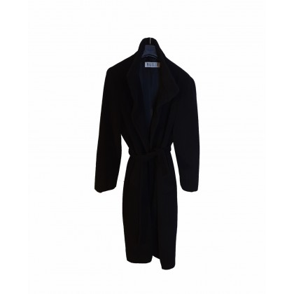 MARELLA BLACK LANA-ANGORA COAT SIZE IT 44