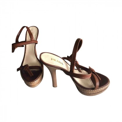 PRADA leather sandals size IT39