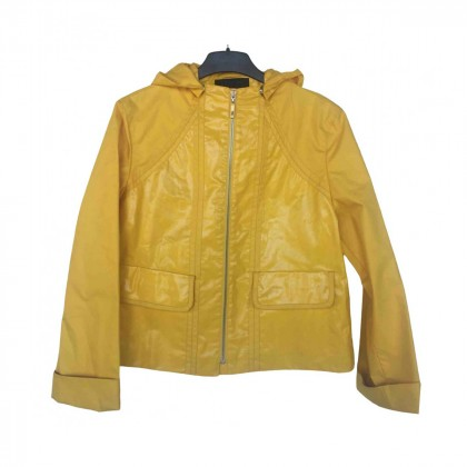 ESCADA YELLOW RAINCOAT JACKET SIZE S