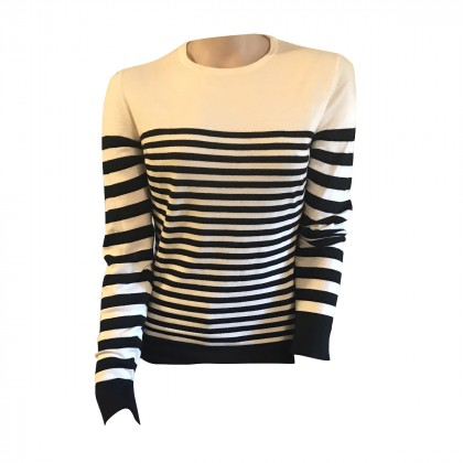 Jason Wu Black White Stripped top