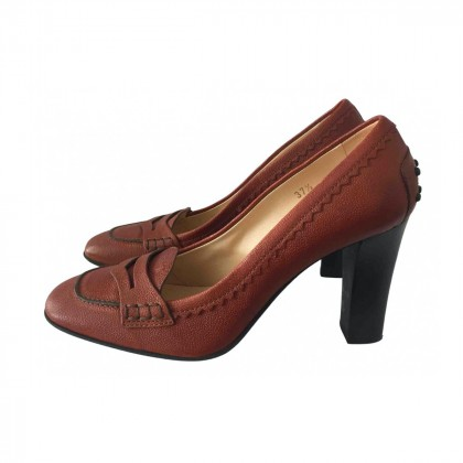 TOD'S LEATHER PUMPS SIZE IT 37 1/2