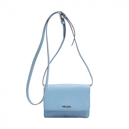 Prada light blue leather mini bag