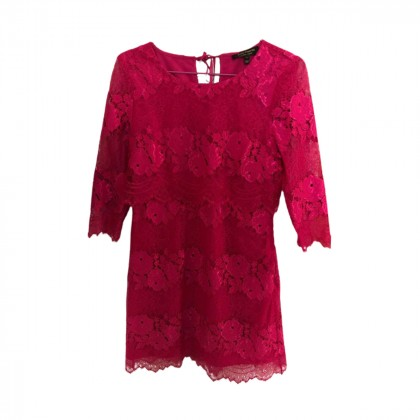 JUICY COUTURE FUCHSIA LACE DRESS  SIZE US4