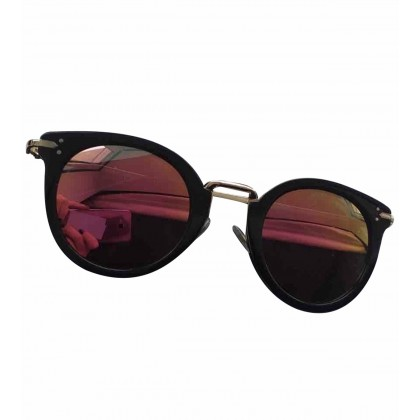 CELINE mirror sunglasses in black and gold metal frame