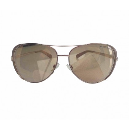Michael Kors gold tone aviator sunglasses