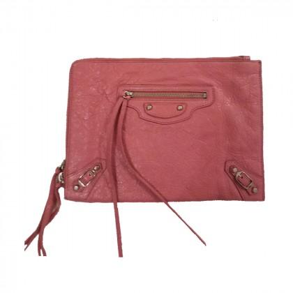 Balenciaga City leather Clutch
