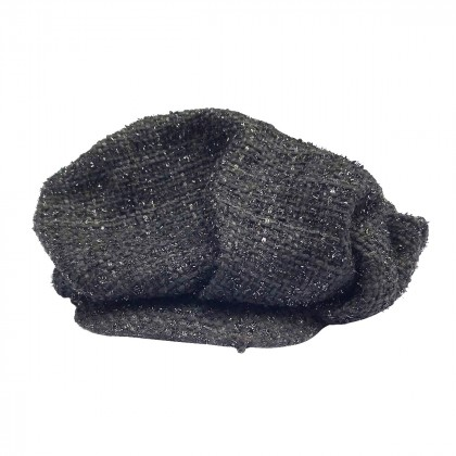 Evita Peroni black knitted hat