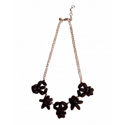 J.Crew black stone necklace